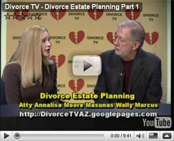 Divorce TV: Part 1 of Divorce and Estate Planning with Atty Annalisa Moore Masunas and Wally Marcus