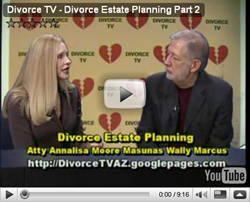 Divorce TV: Part 2 of Divorce and Estate Planning with Atty Annalisa Moore Masunas and Wally Marcus