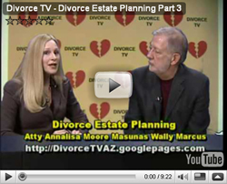 Divorce TV: Part 3 of Divorce and Estate Planning with Atty Annalisa Moore Masunas and Wally Marcus